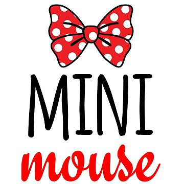 Mini Mouse Polka Dot Bow by CarbonClothing