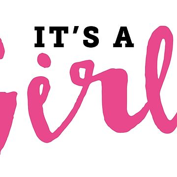 It's A Girl Reveal Announcement by CarbonClothing