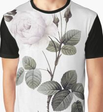 low saturated rose on watercolor background Graphic T-Shirt