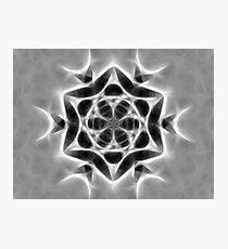 Gray Kaleidoscope Art 24 Photographic Print