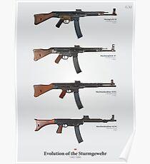 Evolution of the German Sturmgewehr Poster