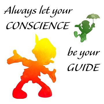 Always let your conscience be your guide Inspired Silhouette by InspiredShadows