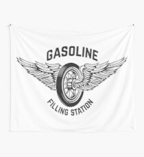 Gasoline Filling Station Wall Tapestry