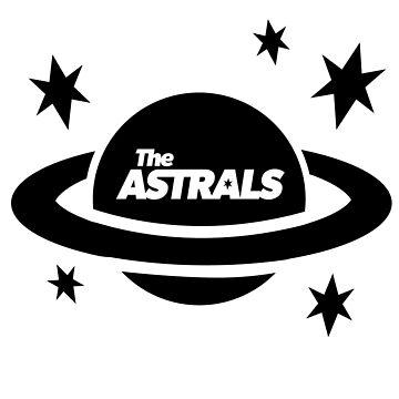 El logotipo de Astrals negro de tommy2shots