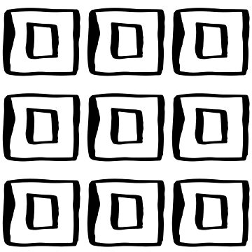 Abstract Squares Black & White Modern Urban Minimalism by Modernicity