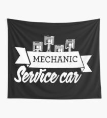 Mechanic Service Car Wall Tapestry