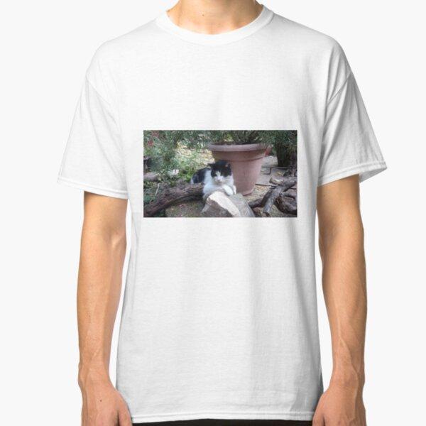 Katze Kitti im Garten Classic T-Shirt