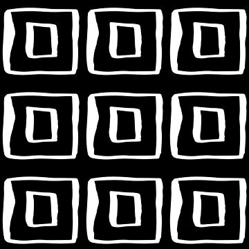 Abstract Squares Modern Monochrome Minimalism by Modernicity