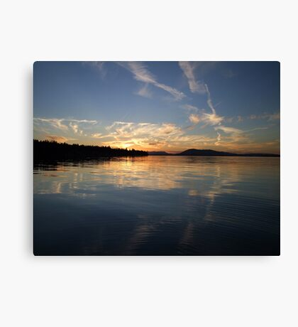 Painted Sky Again Canvas Print