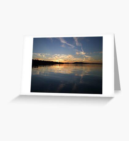 Painted Sky Again Greeting Card