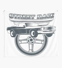 Street Race Wall Tapestry
