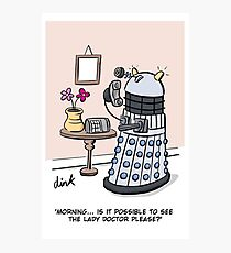 Female Doctor Who Cartoon Photographic Print