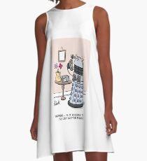 Female Doctor Who Cartoon A-Line Dress