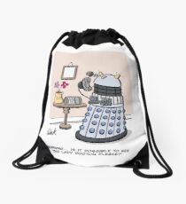 Female Doctor Who Cartoon Drawstring Bag