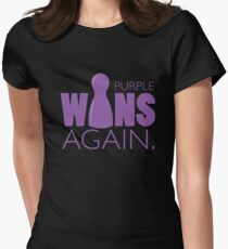 Purple Wins Again Women's Fitted T-Shirt