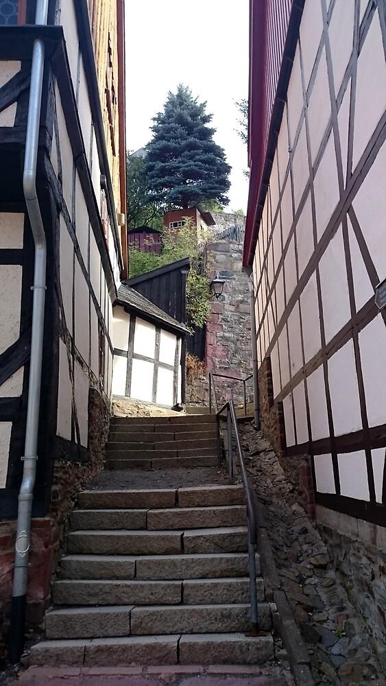 Steile Gasse in Stolberg / Harz von Gourmetkater