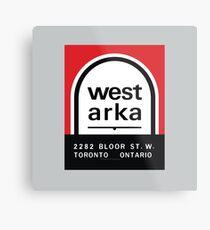 004 | West Arka Matchbook Metal Print