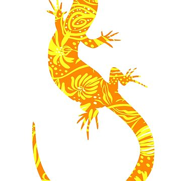 Flower Lizard Yellow by waldogs