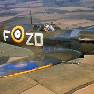 SPITFIRE, British, Airplane, Fighter, WWII, 1942, Spitfire VB of 222 Squadron by TOMSREDBUBBLE