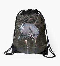 Blue Fish, Blue Bird  Drawstring Bag