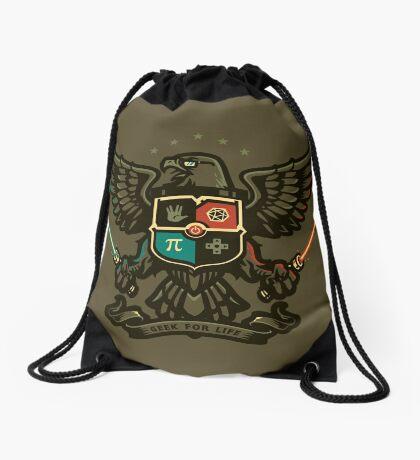 Geek For Life - POSTER Drawstring Bag