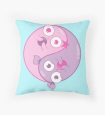 Yin Yang Amoebas Throw Pillow
