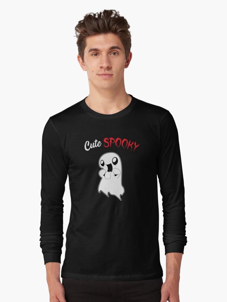 Kids Halloween Shirt - cute spooky ghost Long Sleeve T-Shirt Front