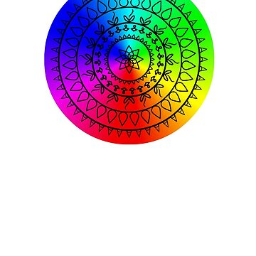 Color wheel Mandala Art T shirt by CallyLawson