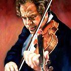 portrait of Itzhak Perlman  by Hidemi Tada