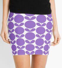 Mid Century Modern Circle Flowers - Lavender Purple Mini Skirt