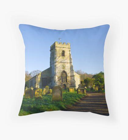 All Saints Church - Settrington Throw Pillow