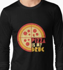 Pizza Is My Drug Retro Pizza Graphic Lovers Cute Gift Idea Long Sleeve T-Shirt