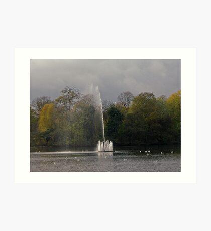 Victoria Park, Water Fountain  Art Print
