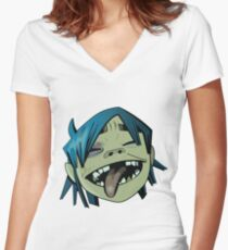 Gorillaz 2D Women's Fitted V-Neck T-Shirt