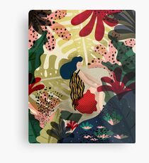Relaxed In Jungle Metal Print