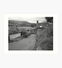 A walk through the village Art Print