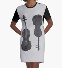 Violin Graphic T-Shirt Dress