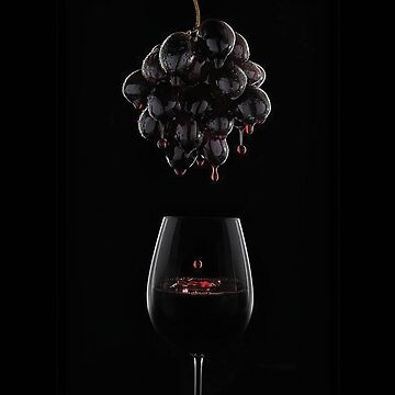 Graps Wine Lover With Glass by snowgraphs