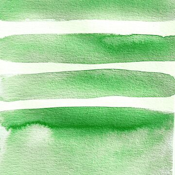 Minimalist Green Watercolor by laurabethlove