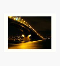 Gold Bridge Art Print