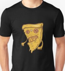 Funny Monster Zombie Pizza Scary Halloween Pizza Face Unisex T-Shirt