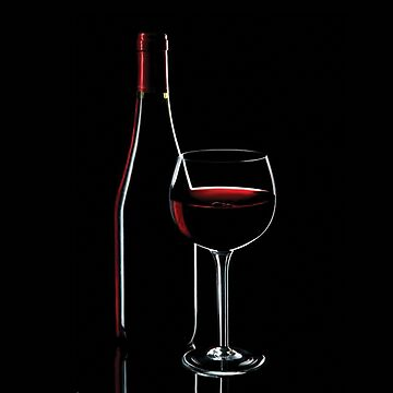 Red Wine With Glass by snowgraphs