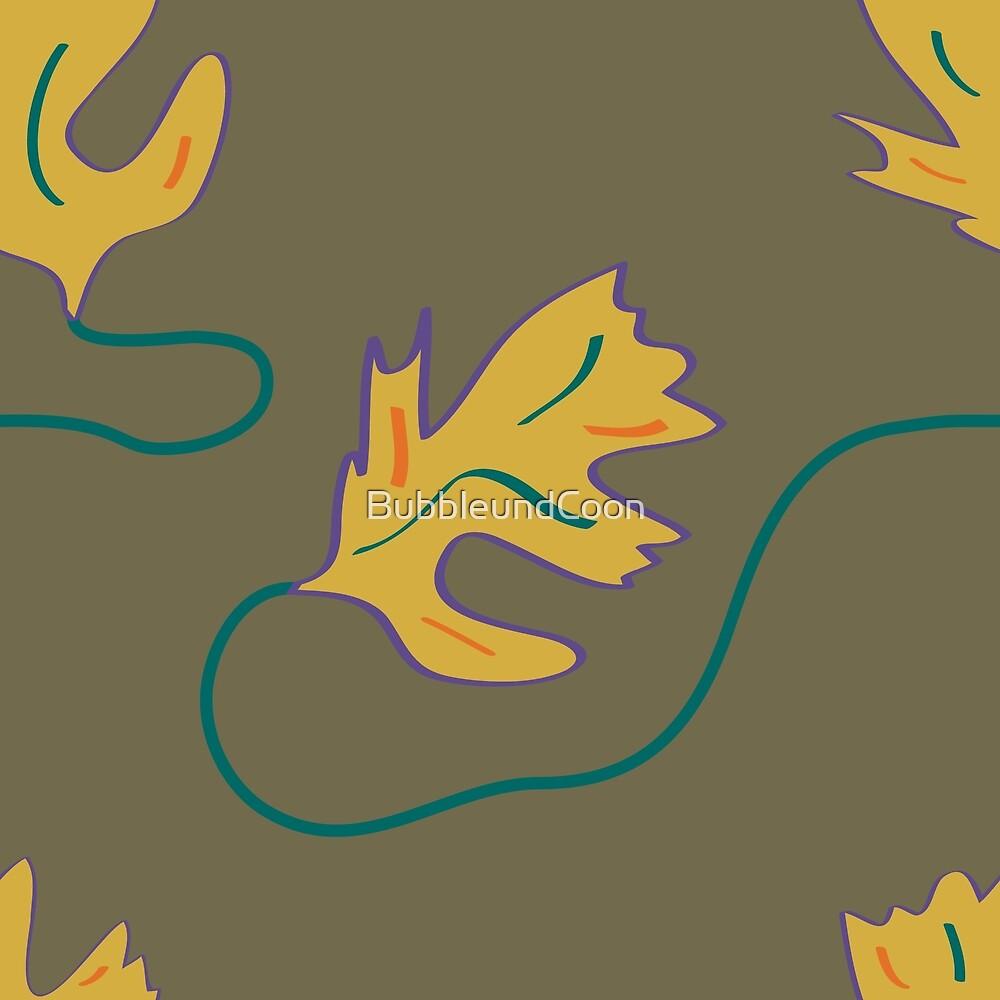 Herbstliches Blattmuster von Stefanie Keller