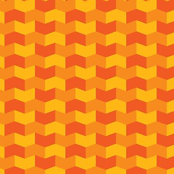 Orange tones geometric pattern by NVDesigns