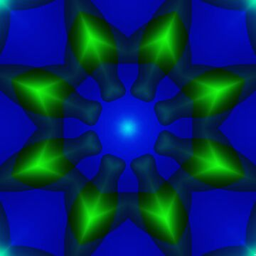A green bloom on blue by TiiaVissak