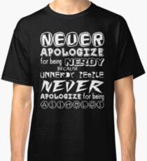 NERD PRIDE - White text Classic T-Shirt