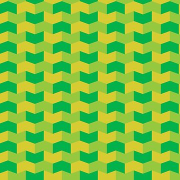 Green and yellow geometric pattern by NVDesigns