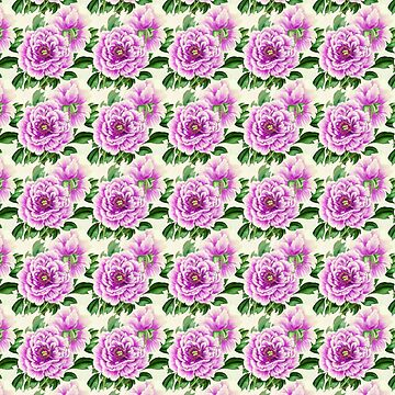 Full-blown purple vintage roses by bettyretro