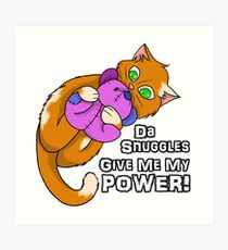 Kitty Power Snuggle Art Print