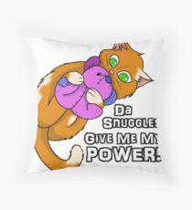 Kitty Power Snuggle Throw Pillow